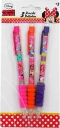 Set Creioane Mecanice Cu Guma Disney Minnie 3 Bucati