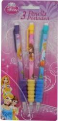Set Creioane Mecanice Cu Guma Disney Princess 3 Bucati
