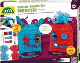Set crosetat doi monstruleti de lana Jucarii Interactive