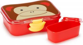 Set cutii pentru gustare SKIP HOP Maimutica Alimentatie