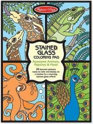Set de colorat vitralii cu animale Melissa and Doug Rechizite