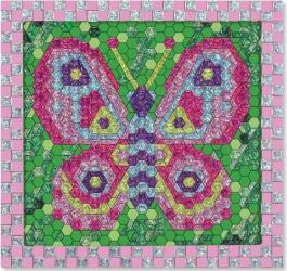 Set de creatie mozaic pe numere Fluture Melissa and Doug Jucarii
