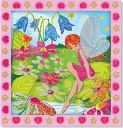 Set de creatie mozaic pe numere Gradina cu Flori Melissa and Doug Jucarii