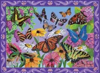 Set de creatie mozaic pe numere Peisaj cu Fluturi Melissa and Doug Jucarii
