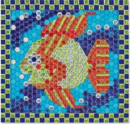 Set de creatie mozaic pe numere Peste Tropical Melissa and Doug