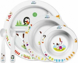 Set de hranire pentru copii mici Philips Avent SCF71600 Cani, pahare, accesorii masa