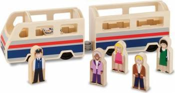 Set de joaca din lemn Tren cu pasageri Machete