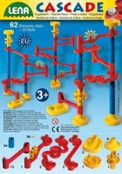 Set de joaca labirint cu 20 bile si 64 de elemente Lena Jucarii Interactive