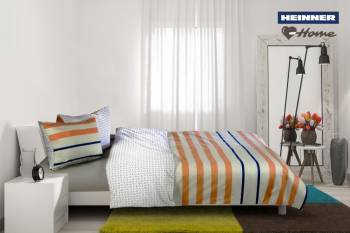 Set de Pat Dublu Heinner Home STRIPES Multicolor Lenjerii de pat