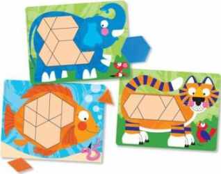 Set de sabloane cu animale Melissa and Doug Rechizite