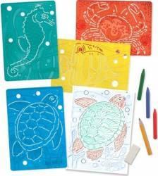 Set de sabloane texturate Animale marine Melissa and Doug Rechizite