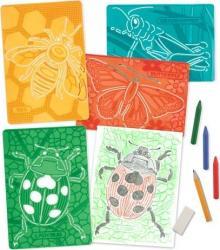 Set de sabloane texturate Insecte Melissa and Doug Rechizite