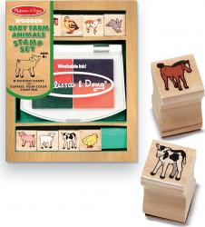 Set de stampile Pui de animale domestice Melissa and Doug Jucarii