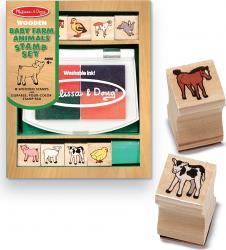 Set de stampile Pui de animale domestice Melissa and Doug Jucarii
