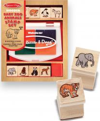 Set de stampile Pui de animale salbatice Melissa and Doug Jucarii
