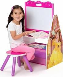 Set Delta Children 2 in 1 organizator si birou cu tablita si scaun Disney Princess Mobila si Depozitare jucarii