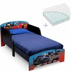Set Delta Children pat cu cadru din lemn Lightning McQueen si saltea pentru patut Dreamily Patut bebe,tarcuri si saltele