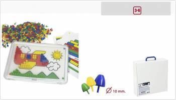 Set didactic mozaic 10 mm pentru 6 copii Miniland