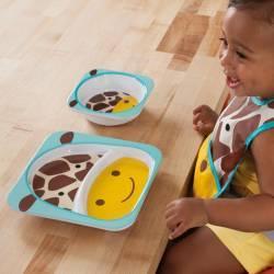 Set farfurie si castronel SKIP HOP Girafa Depozitare alimente