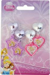Set Frumusete Disney 2 Perechi De Cercei Personaje Multiple- Disney Princess