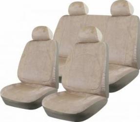 Set Huse Auto Ro Group Luxury Catifea Crem Huse si Accesorii