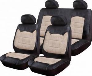 Set Huse Auto Ro Group Luxury Negru-Crem Huse si Accesorii