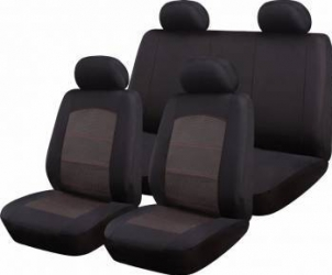Set Huse Auto Ro Group New Style Negru-Grena