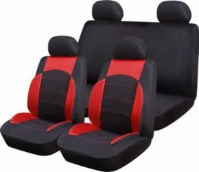 Set Huse Auto Ro Group Sport Line Negru-Rosu