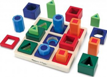 Set incastre Forme de sortat pe tabla Melissa and Doug Jucarii