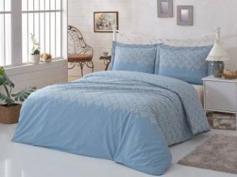 Set lenjerie de pat 3 piese US Polo Tillawook Albastru Lenjerii de pat