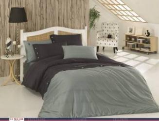 Set lenjerie de pat de in 3 Piese US Polo Phoenix Gri-Negru Lenjerii de pat
