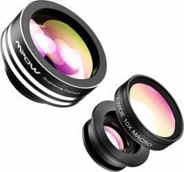 Set lentile foto Mpow 3in1 Clip-On Gimbal, Selfie Stick si lentile telefon
