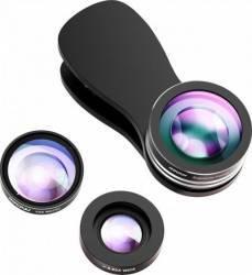 Set lentile foto Mpow Professional Clip-On Negre Gimbal, Selfie Stick si lentile telefon