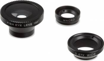 Set lentile magnetice smartphone Kitvision Selfie Stick si Accesorii Camera