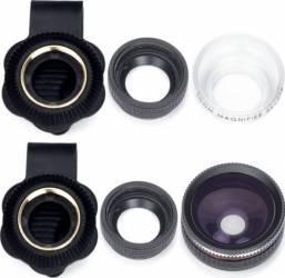Set lentile smartphone 2 in 1 Kitvision KV21LENS Selfie Stick si Accesorii Camera