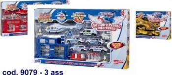 Set masinute interventii cu garaj si accesorii 3 modele Machete