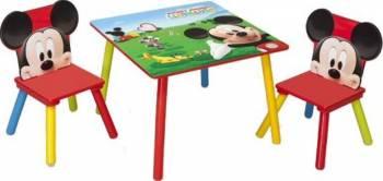 Set masuta si 2 scaunele Disney Mickey Mouse Scaune de masa