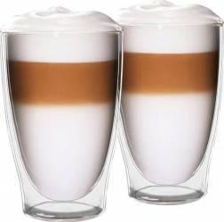 Set pahare sticla Latte-Macchiato 2 x 420ml Accesorii Espressoare