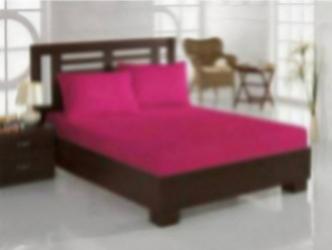Set pat 3 piese Studio Casa Fucsia cearceaf pat dublu cu elastic si doua fete de perna 100% bumbac Lenjerii de pat