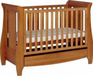 Set patut si saltea Tutti Bambini Lucas Oak Patut bebe,tarcuri si saltele