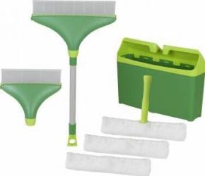 Set pentru spalatul geamurilor Mr.Ti Deluxe Lama cauciuc Verde Carucioare curatenie
