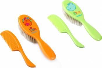 Set perie si pieptene pentru copii BabyOno 563 Hartie igienica si Accesorii baie