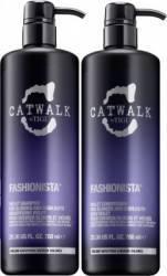 Set Tigi Catwalk Fashionista Violet Shampoo 750ml + Conditioner 750ml Seturi & Pachete Promo