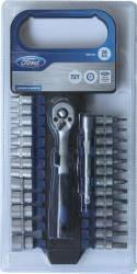 Set tubulara cu clichet 28 piese 14 Ford Tools