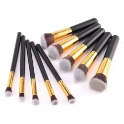Set 10 Pensule Machiaj Cosmetic Par Natural Sintetic Make Up