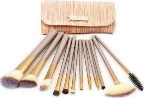 Set 12 Pensule Machiaj Cosmetic Make Up Profesional Chocolate