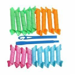 pret preturi Set 18 bigudiuri spiralate multicolore ideale pentru bucle Magic Leverag