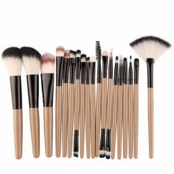 Set 18 pensule cu maner maro Accesorii Cosmetice