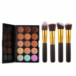 Set 4 Pensule Machiaj Cosmetic Par Natural Sintetic Make Up