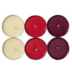 Set 6 lumanari pastila Melinera aroma de mar si scortisoara multicolor 2 x 6 cm Decoratiuni Interioare si Exterioare